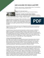 Analiză a situaţiei sectorului viti-vinicol, anul 2009