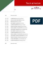 2011 Formula 1 Australian Grand Prix - Timetable