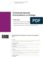 Orchestrate Specific Conversations on Strategy