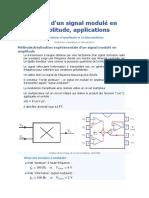 Étude d'Un Signal Modulé en Amplitude, Applications