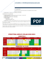 Structura anului școlar 2020-2021