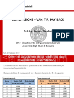 Esercitazione 4 Van Tir Pay-back