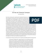 Bau Der Freiburger Synagoge PDF