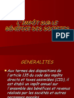 7-L' IMPÔT SUR LE BÉNÉFICE DES SOCIETES