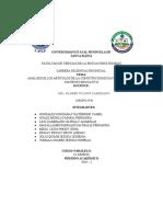 ANALISIS DE LOS ARTICULOS DE LA CONSTITUCIÓN RELACIONADOS CON LA EDUCACIÓN