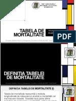 Tabela de Mortalitate Rezidenti