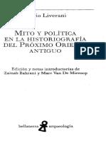 Mario Liverani - Mito y Politica en La Historiografia Del Proximo Oriente Antiguo