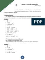 UNIDADE I - Equações Diferenciais