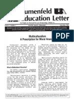 The Blumenfeld Education Letter Sept 1986-Multiculturalism