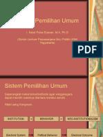 Sistem Pemilihan Umum (Dr. I Ketut Putra Erawan)