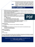 CONVOCATORIA MINSUR - TECNICO LUBRICADOR