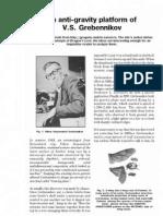 The Anti Gravity Platform of Viktor Grebennikov