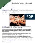 Definición de texto publicitario - Qué es, Significado y Concepto