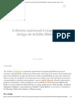 O direito universal à respiração. Artigo de Achille Mbembe - Instituto Humanitas Unisinos - IHU