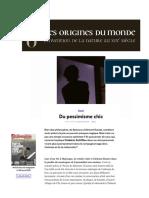 Schiffter, Frédéric - Pesimismo chic - Philosophie magazine