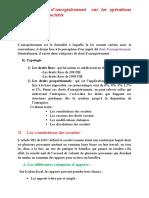 Droits d'Enregestrement 2015-2016