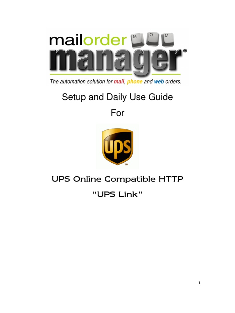 Dydacomp Multichannel Order Manager and UPS Link   United