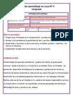 Guía de lenguaje cuarto periodo.