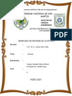 Glosario de Seminario de Informe de Auditoría