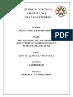 BIOLOGIA l Y LABORATORIO unidad 2