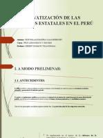 IMPACTO DE LAS PRIVATIZACIONES EN EL PERÚ