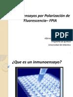 Exposicion de Forense Inmunoensayos FRIA