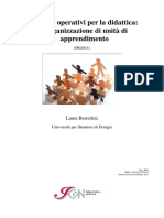 Modelli operativi per la didattica. Organizzazione Unità di apprend Corso aggiornamento
