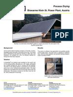 SolarWall Case Study - Biowarme Power Plant Austria (solar air heating system)