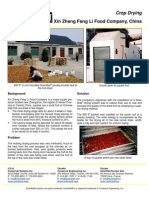 SolarWall Case Study - Feng Li Solar Fruit Drying, China - (solar air heating system)
