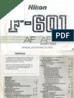 Manual Nikon F601 ES Spanish Espanol