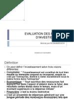 l'evaluation des projets d'investissement