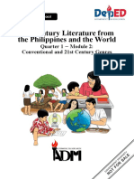 EDITED 21st Century Lit11 q1 Mod2 Conventional 21st Cent Genres v308082020 Converted