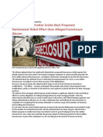 GOVERNMENT SCALING BACK MORTGAGE RELIEF EFFORTS MARCH 2011