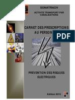 CARNET  DES PRESCRIPTIONS PARTICULIÈRES AU PERSONNEL-V14