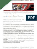20-03-11 Claudia y los poderosos intereses regionales - Opinion Dossier