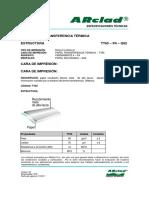 Ficha tecnica Arclad trasferencia termica TT65-P4-G62-V03