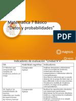 Matematica 7basico Unidad4 Datos y Probabilidades 2(Napsis)