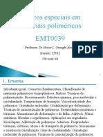 Tópicos Espeiais Em Materiais Poliméricos