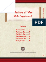 Masters of War Supplement