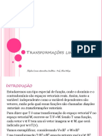 Transformações-lineares