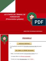 LES ETAPES DU TRAVAIL DE FORMATION