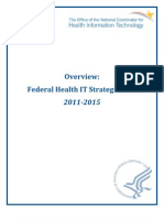 Federal Health IT Strategic Plan, 2011 – 2015 Overview