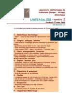 LAMPEA-Doc 2011 – numéro 12 / Vendredi 25 mars 2011