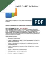 Les licences ArcGIS for Desktop