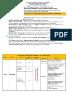 Nouvelles Dates Concours Doctorat Usto Mb 20 21