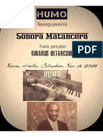 HUMO. Sonora Matancera. Transc. Descarga Pianística. Gerardo Betancourt.