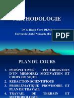 2. Cours de Méthodologie Dr E. H. Yoro DEME (1)