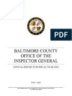 Baltimore County IG Fiscal 2021 Annual Report