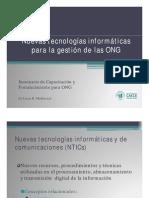 ONG Nuevas tecnologías informáticas para la gestión de las ONGs [Modo de compatibilidad]