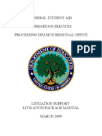 U.S. Department of Education Student Loan Litigation Manual